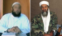 Sami Aidudi (izquierda) y Osama ben Laden (derecha).