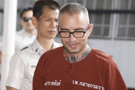 Artur Segarra llega a la audiencia sobre la fase de apelación en el Tribunal Penal de Bangkok