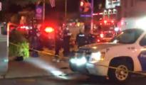Varios agentes de la Policía en el lugar del tiroteo