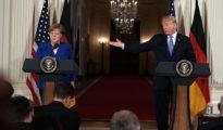 Trump y Merkel.