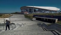 Vista general del estadio Wanda Metropolitano del Atlético de Madrid.