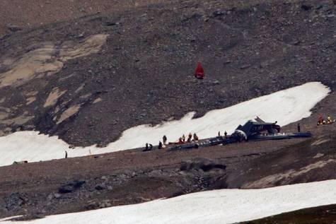 Imagen del lugar accidentado en los alpes suizos.