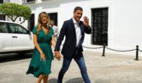 Begoña Gómez, con Sánchez en el Palacio de los Guzmanes