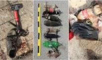 Algunos de los objetos utilizados por los inmigrantes para cruzar la frontera