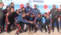 La selección española de fútbol playa celebra la conquista del Europeo