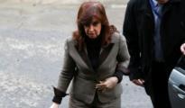 La expresidenta Cristina Fernández a su llegada al Palacio de la Justicia, Buenos Aires