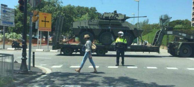 Efectivos del Ejército en Barcelona