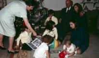 Franco con sus siete nietos en las Navidades de 1964