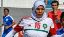 La futbolista marroquí huida, Meriem Bouhid - Twitter