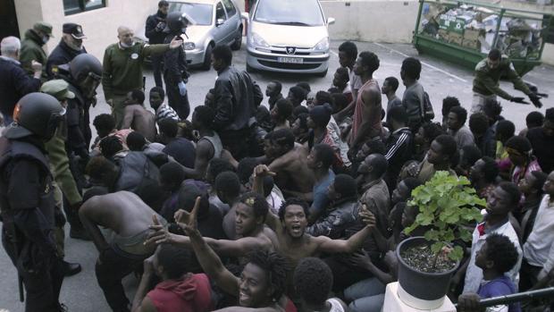 Los ilegales supuestamente devueltos a Marruecos.