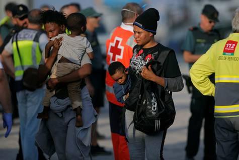 Llegada de inmigrantes a Estepona.