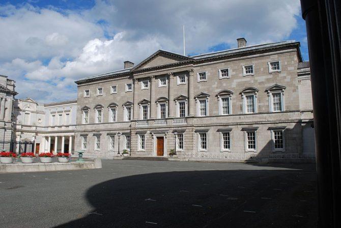 La sede del Parlamento irlandés, en Dublín.