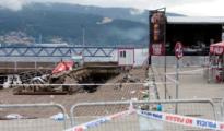 El muelle colapsado en la zona del Náutico de Vigo