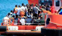 Imagen de archivo de un rescate marítimo en Algeciras.