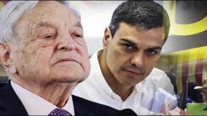 Soros y Sánchez.