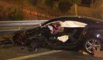 Uno de los vehículos siniestrados en el accidente de Madrid/ Emergencias Madrid