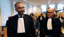 Los abogados de ambas partes en la sala 7 del Tribunal de Primera Instancia del juzgado de Bruselas