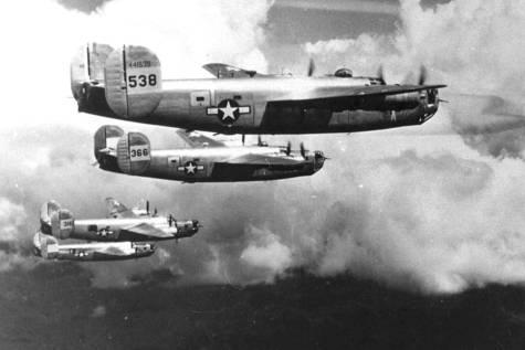 Aviones durante la Segunda Guerra Mundial.