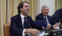 José María Aznar comparece ante la comisión del Congreso de los Diputados que investiga la supuesta financiación ilegal del partido.