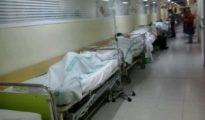 Camas en los pasillos de Urgencias del Hospital de Toledo