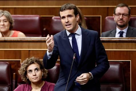 Imagen de archivo de Pablo Casado en el Congreso de los Diputados.