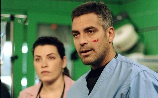 George Clooney, en una escena de 'Urgencias'