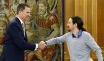 El Rey y Pablo Iglesias.