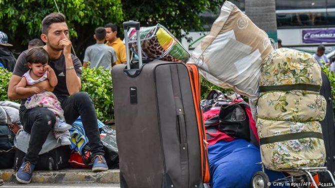 Refugiados venezolanos en Ecuador.