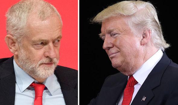 Donald Trmp (d) y Jeremyn Corbyn (i).