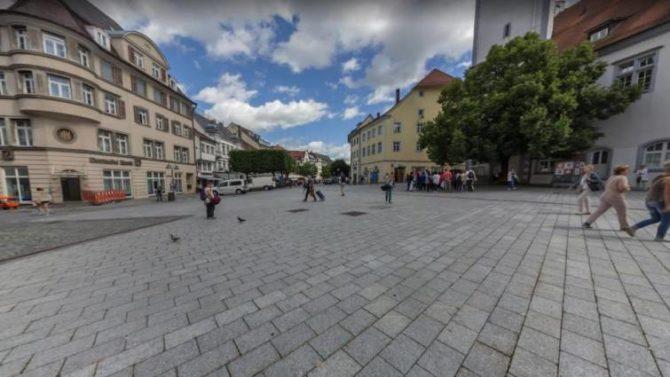 Imagen de la Marienplatz de Ravensburg. (Foto Google)