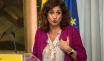 La ministra de Hacienda, María Jesús Montero, durante la rueda de prensa de este miércoles.