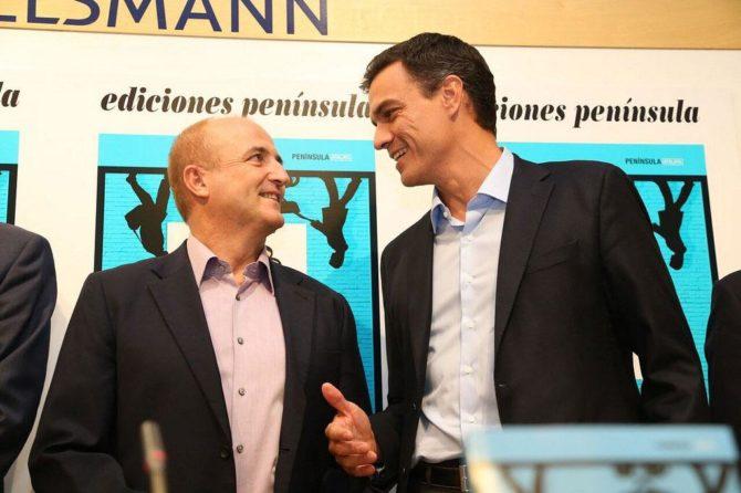 Pedro Sánchez y Pablo Sebastián.
