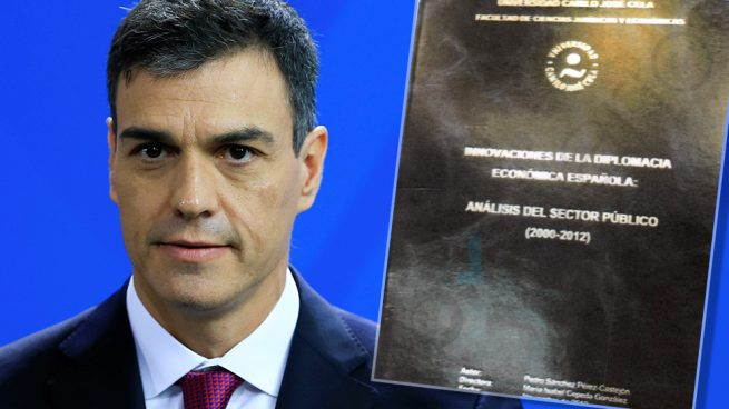 Pedro Sánchez y la portada de su tesis