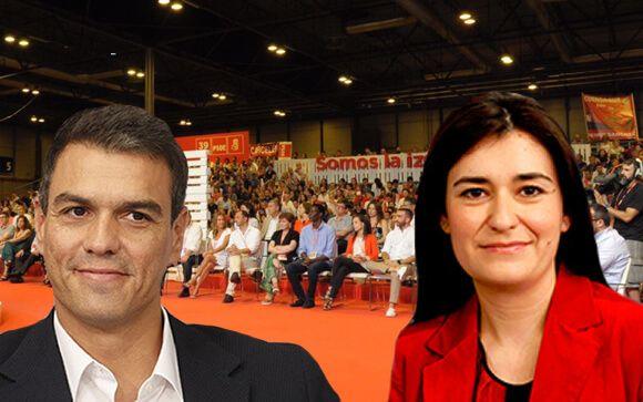 Pedro Sánchez y Carmen Montón.