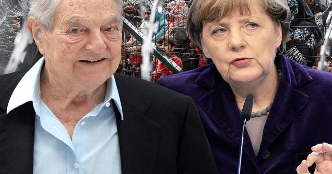 Soros y Merkel.