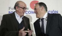 Jaume Roure (i) y Javier Tebas (d)