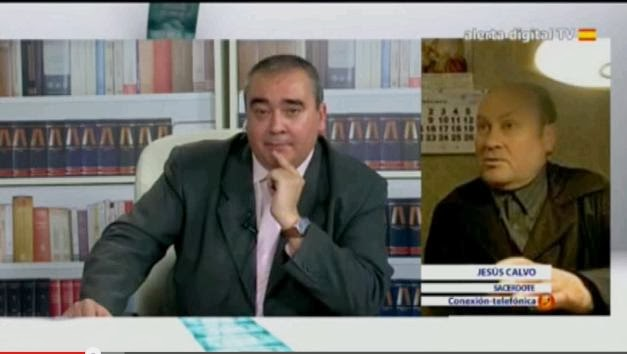 """El director de AD entrevistando al Padre Calvo en """"La Ratonera"""""""