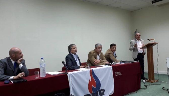 Josep Anglada, durante su conferencia en Lisboa.