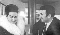 La soprano Montserrat Caballé y su marido, el aragonés Bernabé Martí.