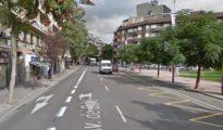 La actual avenida Borbó del distrito de Nou Barris, en Barcelona/ Google Maps