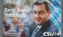 Cartel electoral de la CSU - REUTERS