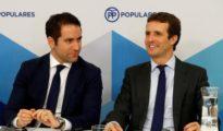 Teodoro García Egea y Pablo Casado, hoy en el Comité Ejecutivo Nacional