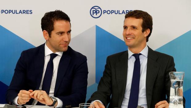 Teodoro García Egea y Pablo Casado