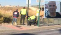 Momento de la detención del presunto asesino de un guardia civil en Granada; el fallecido, en la imagen recortada
