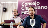 Iglesias y Echenique en el Consejo de Podemos de hoy