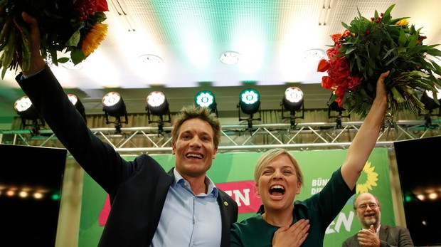Katharina Schulze y Ludwig Hartmann, de los Verdes, celebran su ascenso