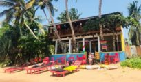 Exterior del hotel Lucky Beach Tangalle