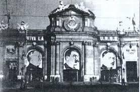 Stalin en la Puerta de Alcalá madrileña: significativa expresión de la hegemonía comunista en la II República.