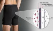 Imagen promocional de uno de los productos. Un tejido con carbono activado retiene derivados de azufre fétidos que a veces son liberados con las ventosidades - MyShreddies.com