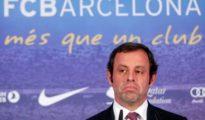 Sandro Rosell en una imagen durante su etapa de presidente del Barcelona.